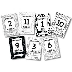 Milníkové kartičky - Můj první rok - skandi 2